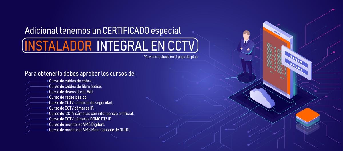 certificado de cámaras de seguridad cctv
