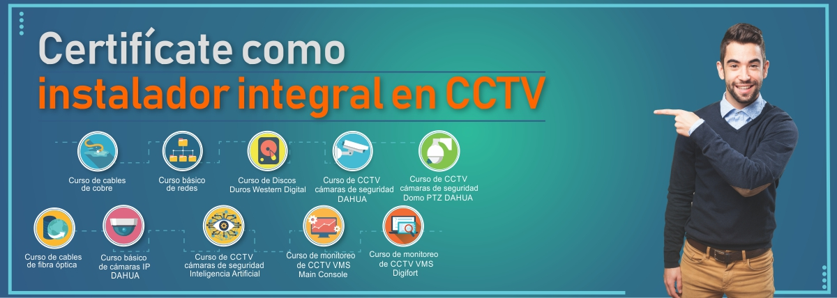 Certificado integral en camaras de seguridad cctv