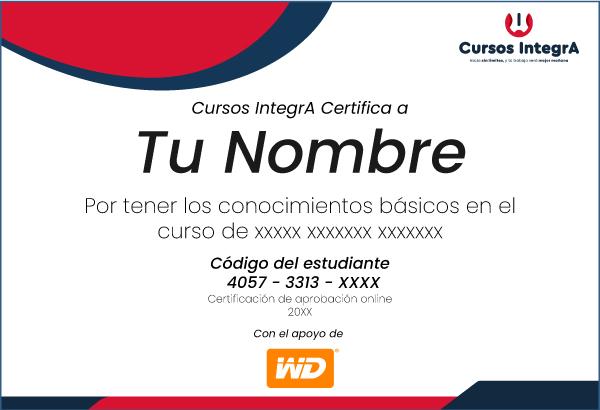certificado curso de discos duros integra