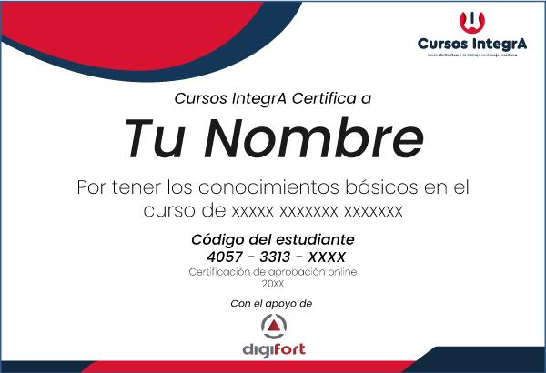 Certificado estudiante curso digifort